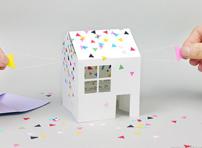 Pop Up House DIY Invitation Card