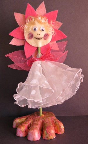 Adorable Felt Flower Fairy