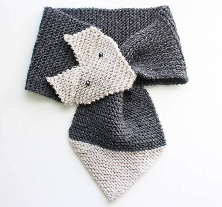 Knitting Scarves Patterns For Charity : Foxy Garter Stitch Scarf AllFreeKnitting.com
