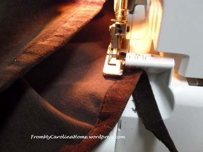 Quick Method Pants Hemming with your Serger