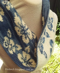 Double Knit Flower Cowl