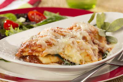 Weeknight Spinach Ravioli Lasagna