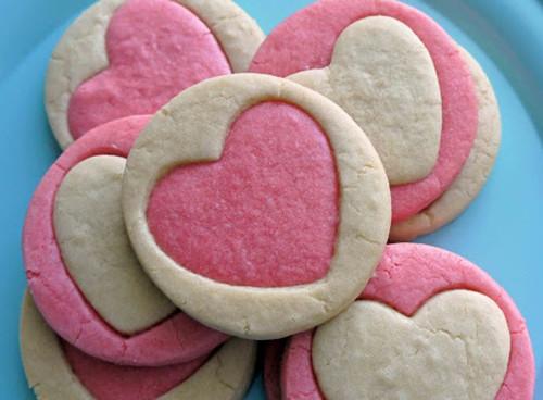 Rolled Heart Valentine Cookie Recipe