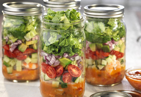 Tropical Salad in a Jar
