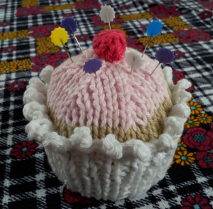 Frosted Cupcake Pincushion