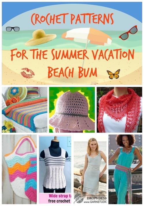 Crochet Patterns for the Summer Vacation Beach Bum