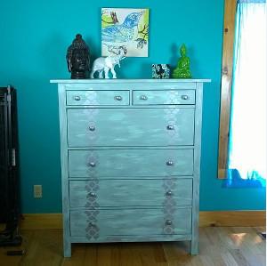 Tropical Teal Shimmery Dresser