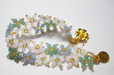 Floating Opal Blossoms Bracelet