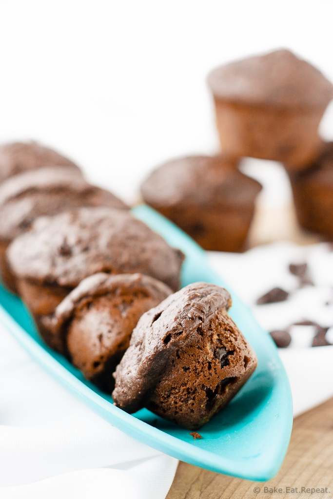 Healthy Double Chocolate Cherry Muffins ...