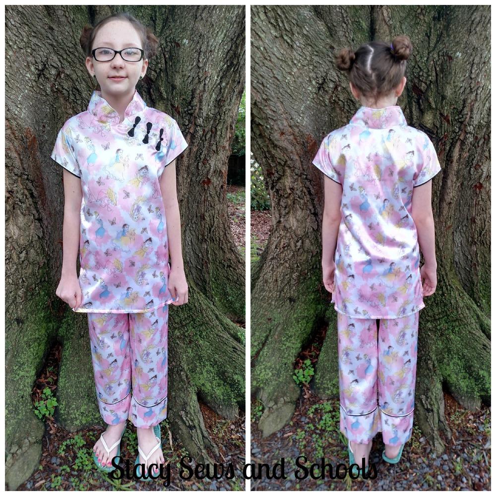 Princess Print Kids Pajamas Allfreesewing Com