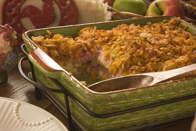 Layered Amish Breakfast Bake