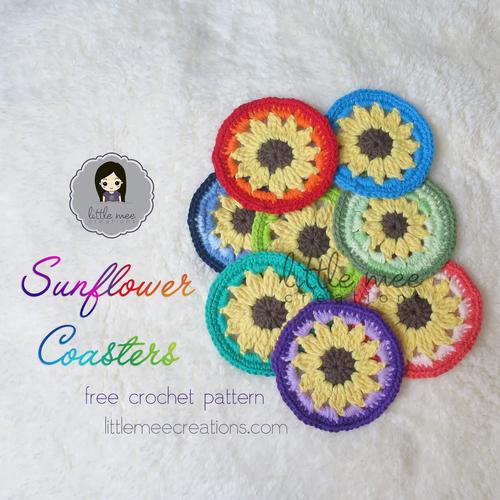 Sunflower Coaster Allfreecrochet Com