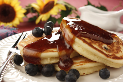 Bed and Breakfast Blueberry Pancakes