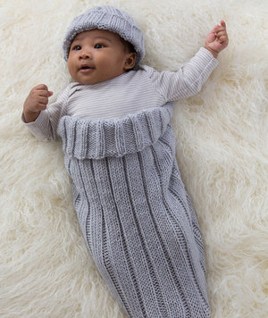 Comfy Knit Baby Cocoon and Cap