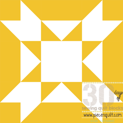 Amish Star Squared Quilt Block
