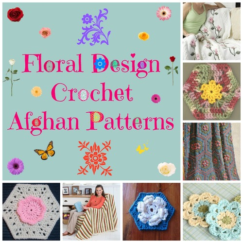 Floral Design Crochet Afghan Patterns