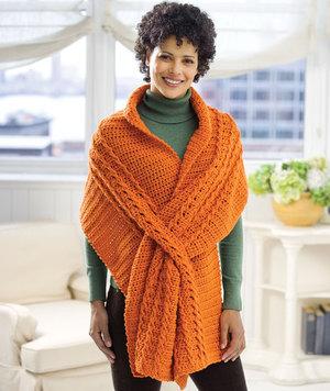 Oversized Crochet Stole