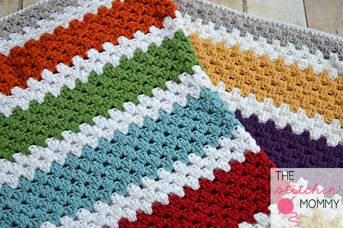 Crochet Afghan Patterns Stripes : Stashbusting Granny Stripe Crochet Afghan ...