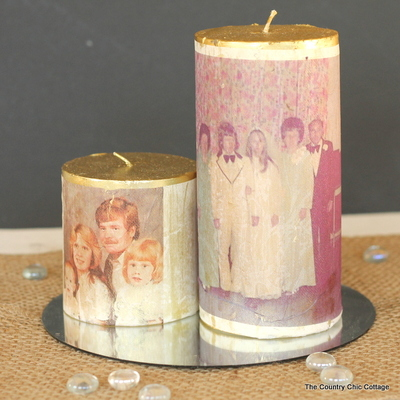Easy Photo Transfer Candles