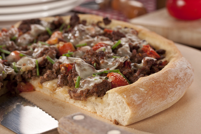 Beefy Garlic Pizza