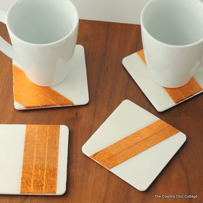 Copper Foil Coasters