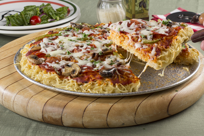 Ramen Noodles Pizza Bake