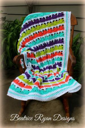 Fruit Stripe Baby Blanket Crochet Pattern