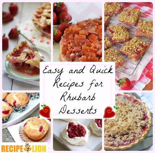 11 Easy and Quick Recipes for Rhubarb Desserts