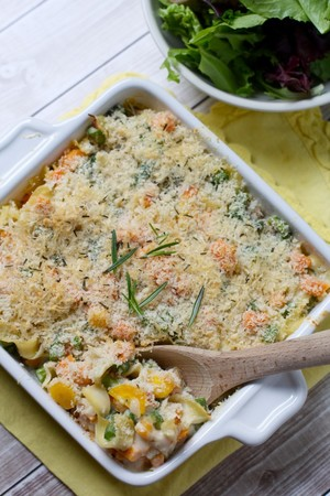 Savory Spring Vegetable Casserole
