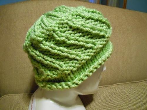 5cd644bcce374a Diagonal Rib Stitch Hat | AllFreeKnitting.com
