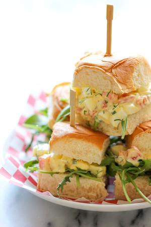 Lighter Egg Salad Sliders