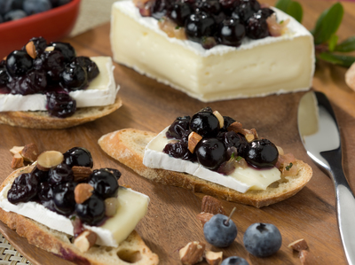 Blueberry and Brie Crostini