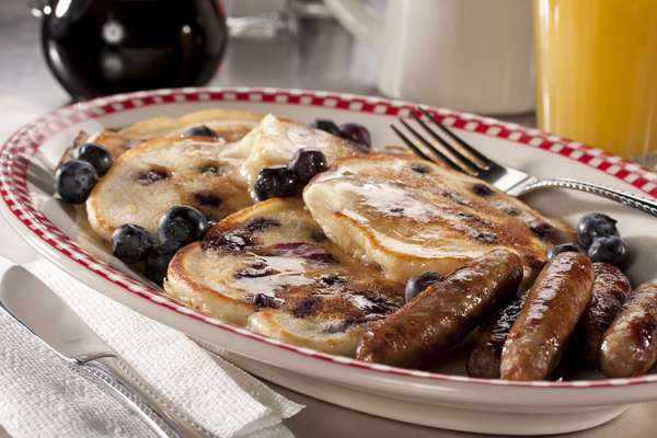 Blueberry Cream Cheese Pancakes