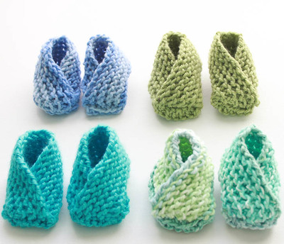 Crossover Knit Baby Booties Patterns
