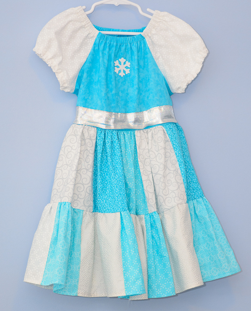 Frozen Inspired Peasant Dress