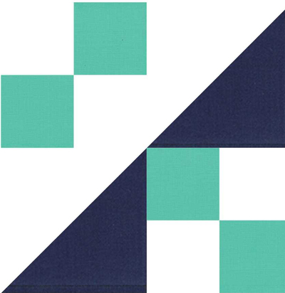 Sickle Quilt Block Pattern