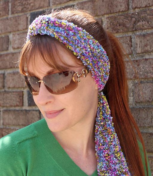 Simple Rainbow Headband Knitting Pattern Favecrafts Com