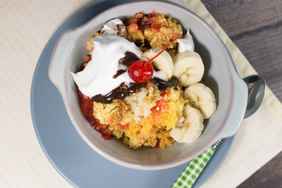 No-Brainer Banana Split Dump Cake