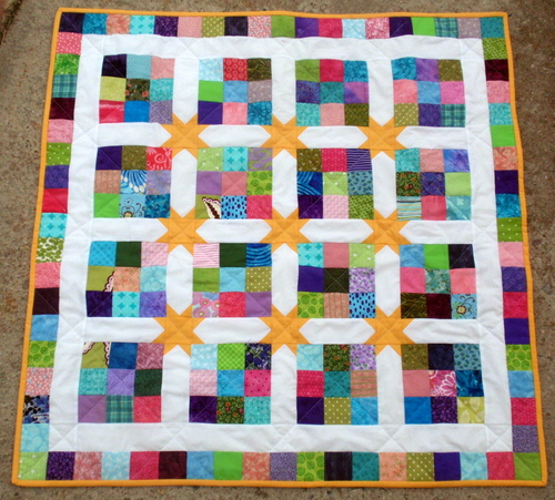 Rainbow Star Quilt Tutorial