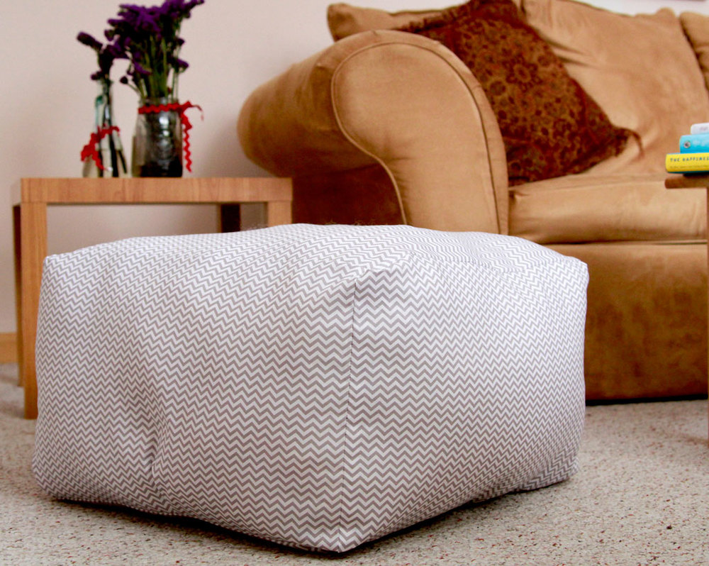 Diy Big Floor Pillows : Floor Pillow Poufs DIYIdeaCenter.com