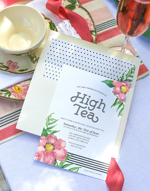 Printable High Tea Party Invitations
