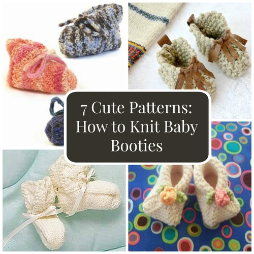 7 Cutre Patterns: How to Knit Baby Booties