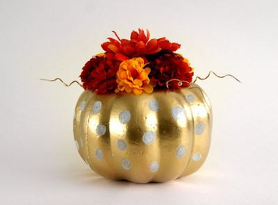 Gilded Pumpkin DIY Fall Centerpiece