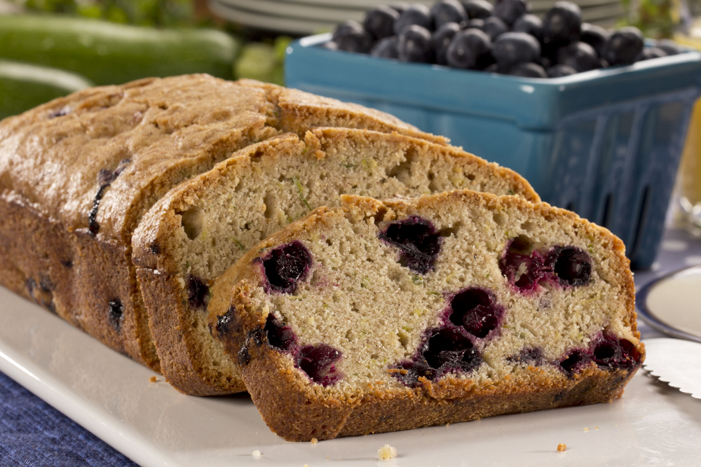 Blueberry Zucchini Bread | MrFood.com