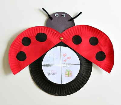 Ladybug Paper Plate Project