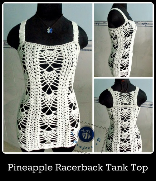 Pineapple Pattern Tank Top