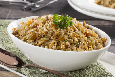 Brown Rice with Nuts and Raisins
