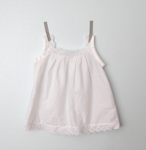 Lacey Trimmed Girls Blouse