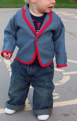 Little Man Upcycled Suit Jacket