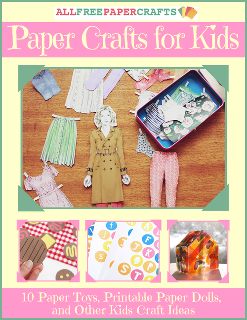 photo about Printable Paper Crafts titled Paper Crafts for Young children: 10 Paper Toys, Printable Paper Dolls
